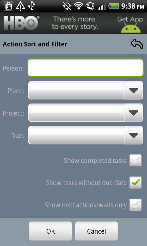 Show Tasks Without Due Date